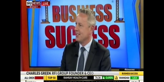 Image for Sky News Business Success Interview with Charles Green, Founder and Group CEO, RFi Group - 13 September 2016